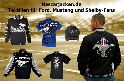 Ford Mustang Jacke, Ford Mustang T-Shirt, Ford Jacke, Shelby Jacke, Bekleidung, Nascar-Jacken, Mustang Caps, Ford Caps