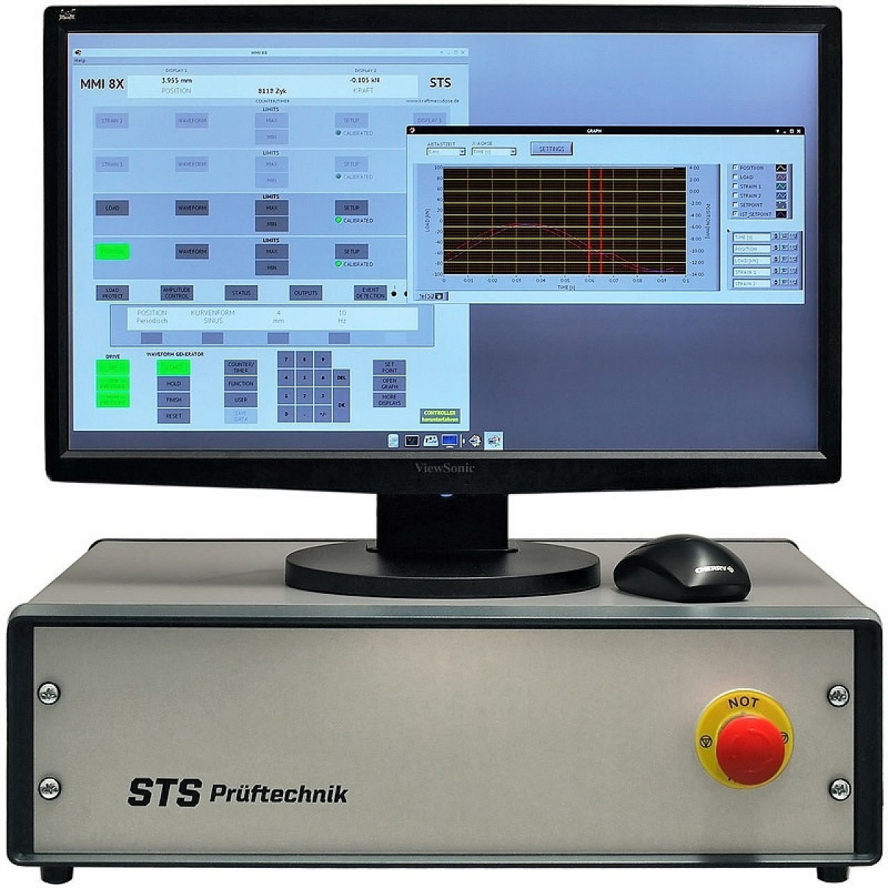 Controller for servo-hydraulic Testing Machines and Single Cylinders or electro-mechanical Testing Machines