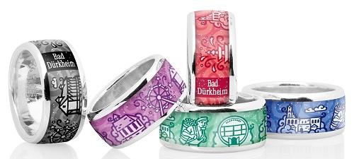 Ihr speziell gefertigter Ring aus Bad Dürkheim als Erinnerungsstück, Andenken oder ausgefallenes Geschenk und Souvenir!