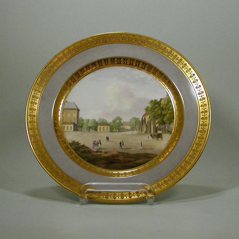 bilder teller meissen 1820 ansichtenteller dagoty paris porzellan prunk des klassizismus. Black Bedroom Furniture Sets. Home Design Ideas