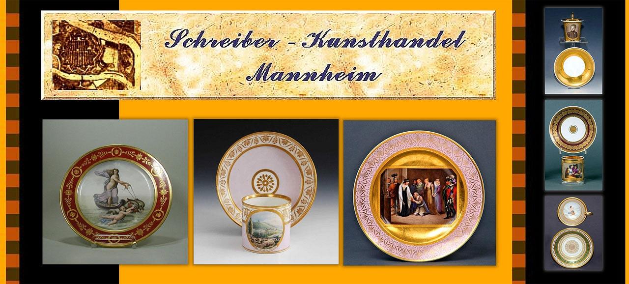 Bilder Teller Meissen 1820, Ansichtenteller Dagoty Paris, Porzellan Prunk des Klassizismus Stilrichtungen, Kunst kaufen