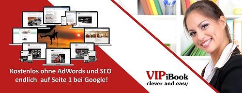 VIPiBook-Die Werbeseite kostengünstige und leistungsfähige Alternative und Ergänzung zu Google AdWords