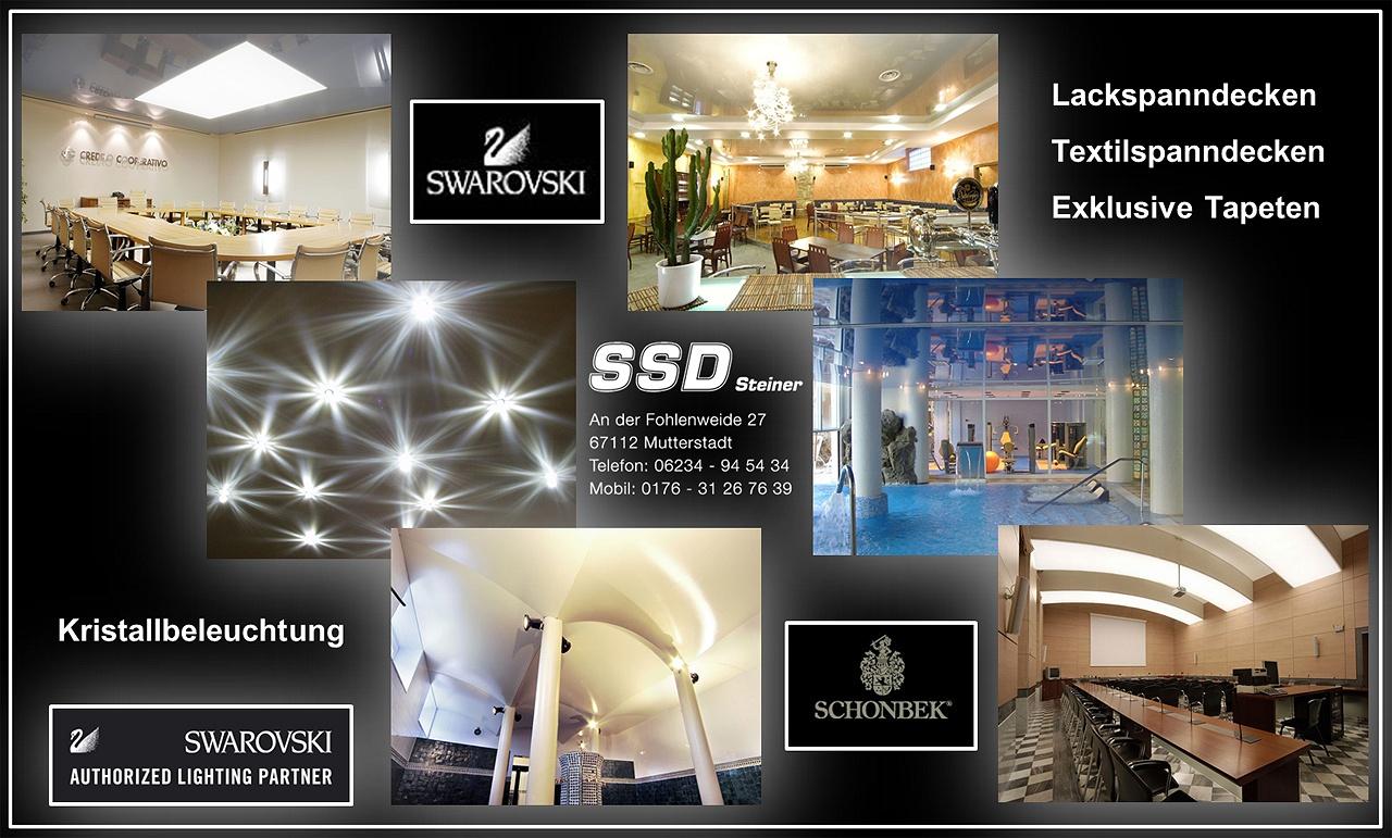 SSD Steiner- günstige Spanndecken und Deckensysteme Swarovski Einbau