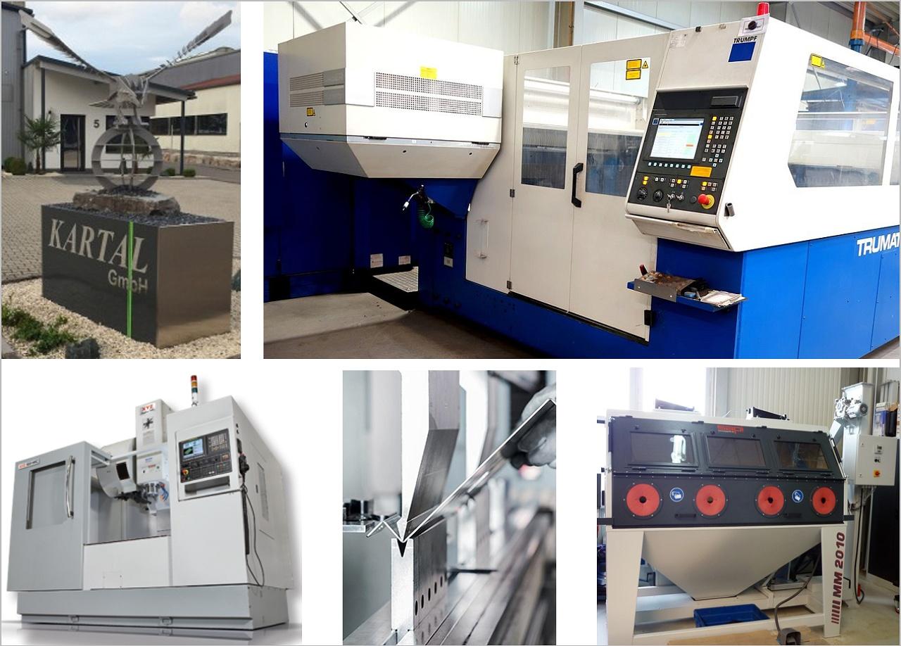 Kartal GmbH - Unsere Technologie im der Metallbearbeitung - Laserschneiden, Abkanten, Glasperlenstrahlen und Schweißen