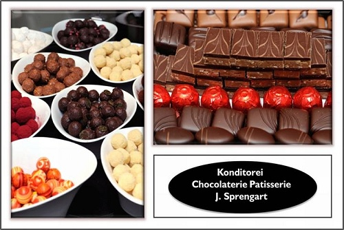 Chocolaterie-Patisserie Berlin-Mitte am neuen Carre gegenüber Alexanderplatz, Pralinen, Trüffel, Konditorei, Schokolade, Marzipan