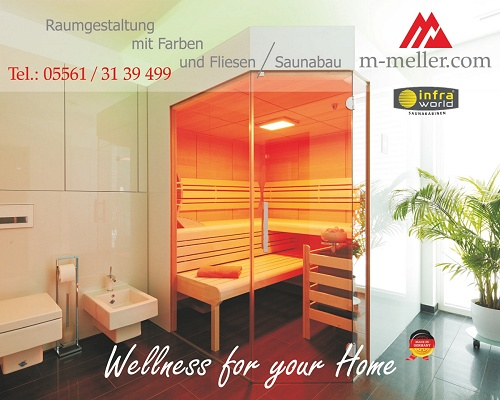 Raumgestaltung mit Farben u. Fliesen / Saunen u. Wärmekabinen InfraWorld