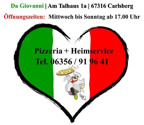 Da Giovanni, Pizzeria und Heimservice, Anschrift, Telefonnummer und Öffnungszeiten