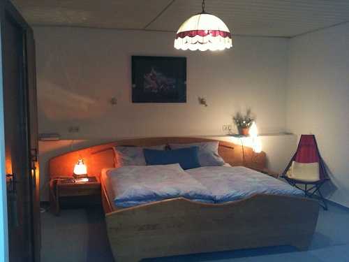 Ferienwohnung Waldnestle Carlsberg Schlafzimmer groß