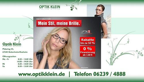 Optik Klein, preiswerte Brillen und Sonnenbrillen in Bobenheim-Roxheim