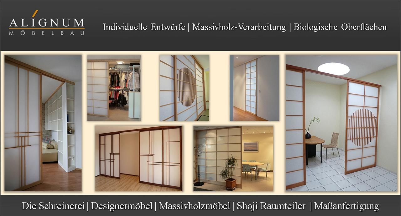 ALIGNUM Möbelbau, Schreinerei für Massivholzmöbel und Shoji Raumteiler Heidelberg, Mannheim, Weinheim