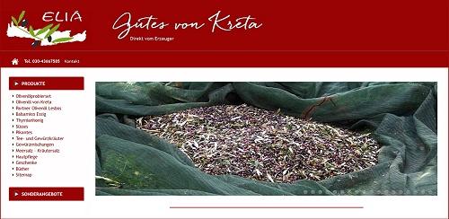 Bestes griechisches natives Olivenöl online kaufen, direkt vom Erzeuger, Oliven-Öl von Kreta bestellen, Testsieger 2016 Kolympari