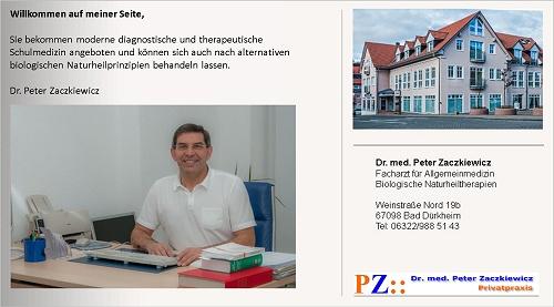Privatarztpraxis - TCM- Praxis Bad Dürkheim, Dr. med. Peter Zaczkiewicz Allgemeinarzt, Naturheilarzt